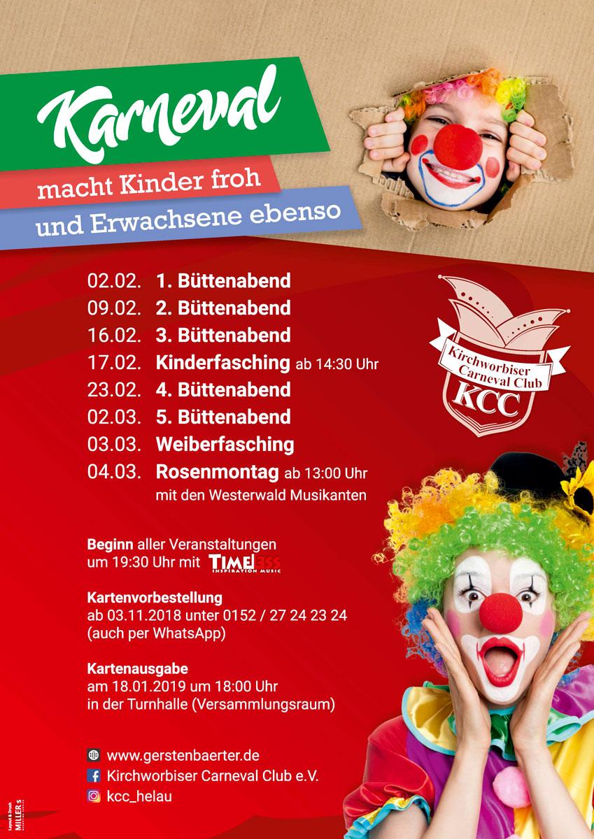 Kirchworbiser Carneval Club E V Saison